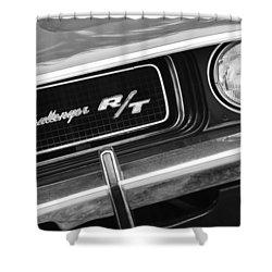 1970 Dodge Challenger Rt Convertible Grille Emblem Shower Curtain