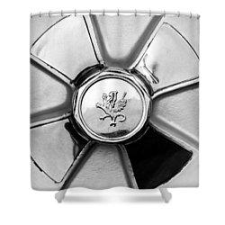 1971 Iso Fidia Wheel Emblem Shower Curtain by Jill Reger