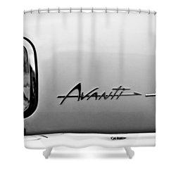 1978 Avanti II Headlight Emblem Shower Curtain by Jill Reger