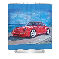1997 Porsche Carrera S Shower Curtain