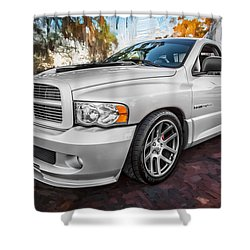 2004 Dodge Ram Srt 10 Viper Truck Painted Shower Curtain by Rich Franco