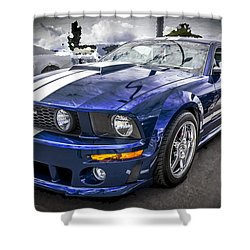 2008 Ford Shelby Mustang With The Roush Stage 2 Package Shower Curtain by Rich Franco