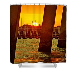 2013 First Sunset Under North Bridge 3 Shower Curtain