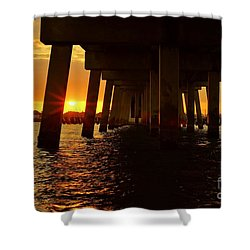 2013 First Sunset Under North Bridge Shower Curtain