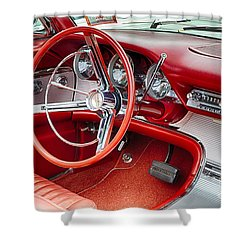 62 Thunderbird Interior Shower Curtain by Jerry Fornarotto