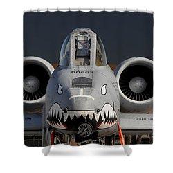 A-10 Warthog Shower Curtain by John Black
