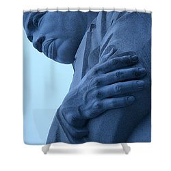 Shower Curtain featuring the photograph A Blue Martin Luther King - 2 by Cora Wandel