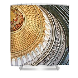 Shower Curtain featuring the photograph A Capitol Rotunda by Cora Wandel
