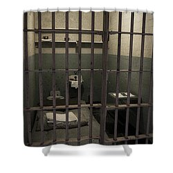 A Cell In Alcatraz Prison Shower Curtain
