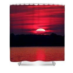 A Chesapeake Bay Sunrise Shower Curtain