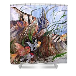 A Fishy Tale Shower Curtain