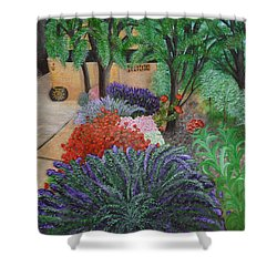 A Garden To Remember Shower Curtain by Donna  Manaraze