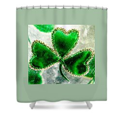 A Shamrock On Ice Shower Curtain