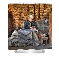 A Stitch In Time Shower Curtain by Kathy Baccari