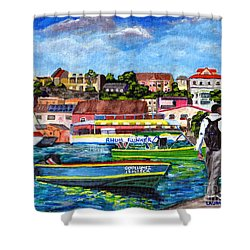 A Stroll On The Carenage Shower Curtain
