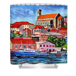 A View Of The Carenage Shower Curtain