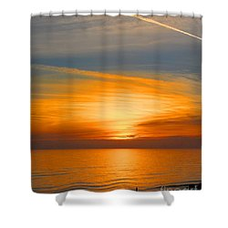 A Walk At Sunset Shower Curtain
