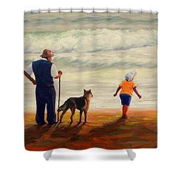A Wish To The Waves, Peru Impression Shower Curtain