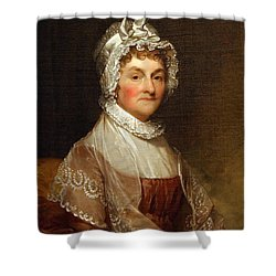Shower Curtain featuring the photograph Abigail Smith Adams By Gilbert Stuart by Cora Wandel