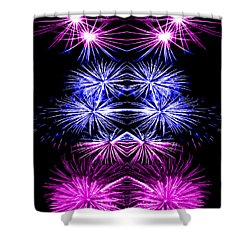 Abstract 135 Shower Curtain by J D Owen