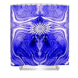 Abstract 139 Shower Curtain by J D Owen