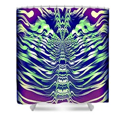 Abstract 140 Shower Curtain by J D Owen
