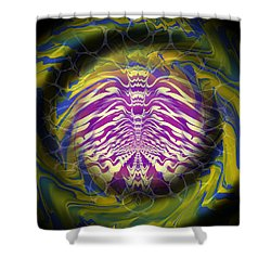 Abstract 141 Shower Curtain by J D Owen