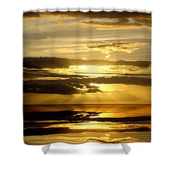 Abstract 91 Shower Curtain by J D Owen