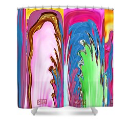 Abstract Emotional Stages  Confusion Disbelief Grief Anger Walkaway Shower Curtain