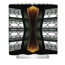 Abstract Empire Deco Shower Curtain