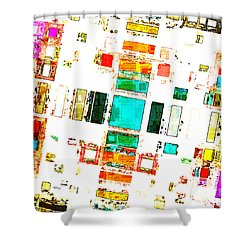 Abstract Geometric Art Shower Curtain
