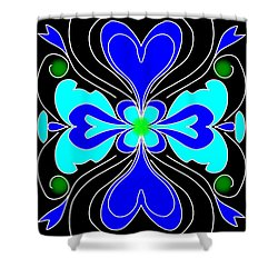 The Love Flower Shower Curtain
