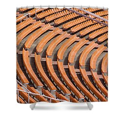 Abstract Pattern - Rows Of The Stadium's Seats Shower Curtain