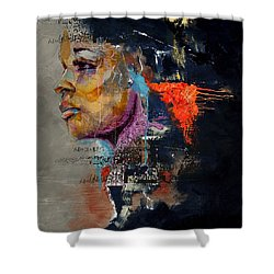 Abstract Women 015 Shower Curtain by Corporate Art Task Force