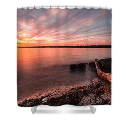 Adriatic Sunset II Shower Curtain by Davorin Mance
