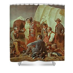 Advice On The Prairie  Shower Curtain by William Tylee Ranney