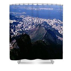 Aerial, Rio De Janeiro, Brazil Shower Curtain