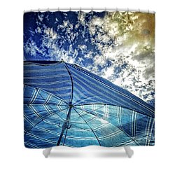 Surreal Beach Day Shower Curtain by Dee Flouton