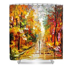 After The Rain Shower Curtain by Leonid Afremov
