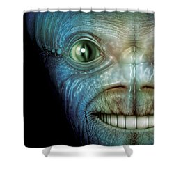 Alien Face Shower Curtain