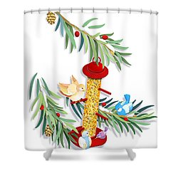 All About Sharing Shower Curtain