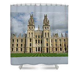 All Souls Oxford Shower Curtain by Ann Horn