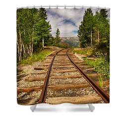 Along Boreas Pass Shower Curtain by Christopher L Nelson