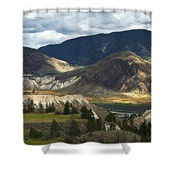 Along The River  Shower Curtain by Theresa Tahara