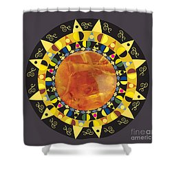 Amber Mandala Shower Curtain