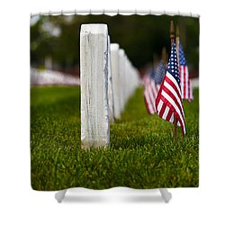 Shower Curtain featuring the photograph American Flag by Jerry Gammon