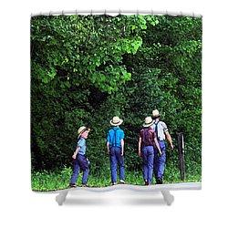 Amish Boys Shower Curtain