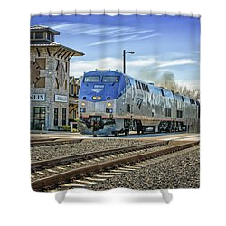 Amtrak 112 Shower Curtain by Jim Thompson