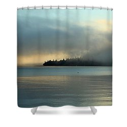 An Island In Fog Shower Curtain