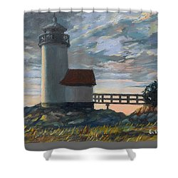 Annisquam Light Shower Curtain by Eileen Patten Oliver